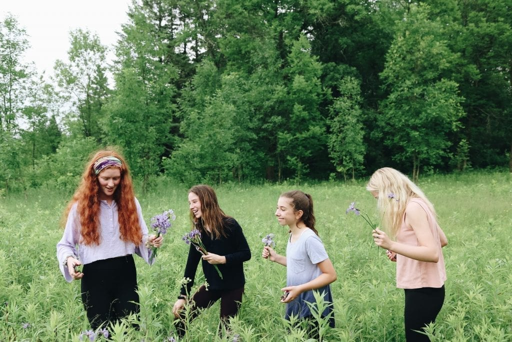 Camp Birchwood staff teach, feed, and house around 100 girls at a time throughout the summer. Each morning, the girls (ages 8 through 18), sign up for four creative sessions, including those that focus on gardening and plant care.