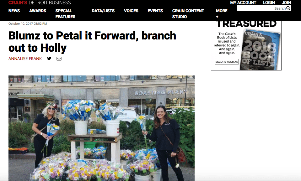Get the Media Excited About Petal It Forward