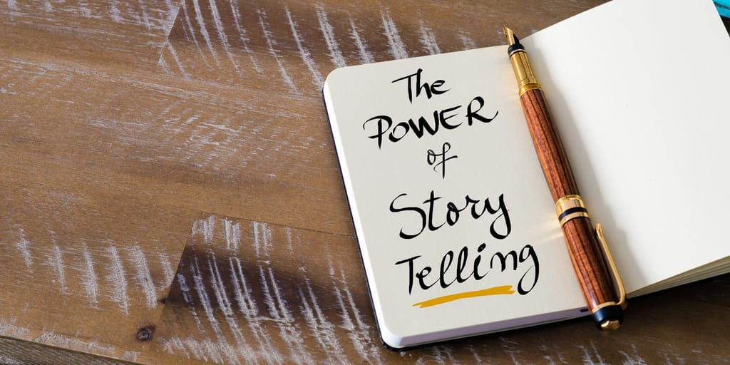 Storytelling appeals to customers' emotions, making them more open to making a purchase.