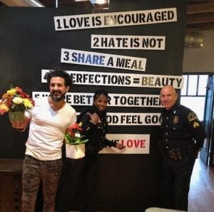 In Texas, McShan Florist teamed up with the Dallas Police Department for its Petal It Forward event