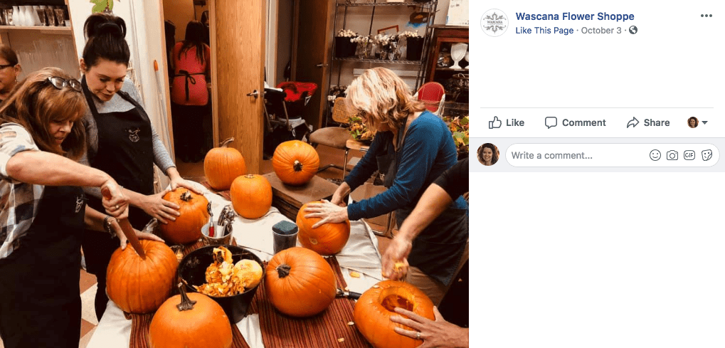 Pumpkin Themed Class Leads to Bonding — and Sales