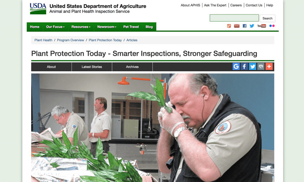 The US Department of Agriculture's Animal and Plant Health Inspection Service) recently announced a change in how it inspects imported plants-for-planting material. SAF members hailed the announcement as a common-sense shift.