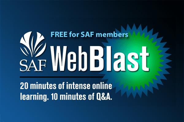 SAF WebBlast logo