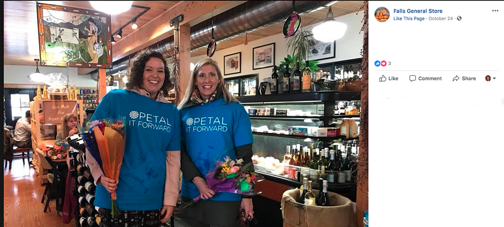Facebook Live videos proved a popular marketing tactic for Petal It Forward 2018. Forget-Me-Not Flowers and Gifts in Barre, Vermont. In addition to lots of great still images, the team also used live video to drum up excitement.