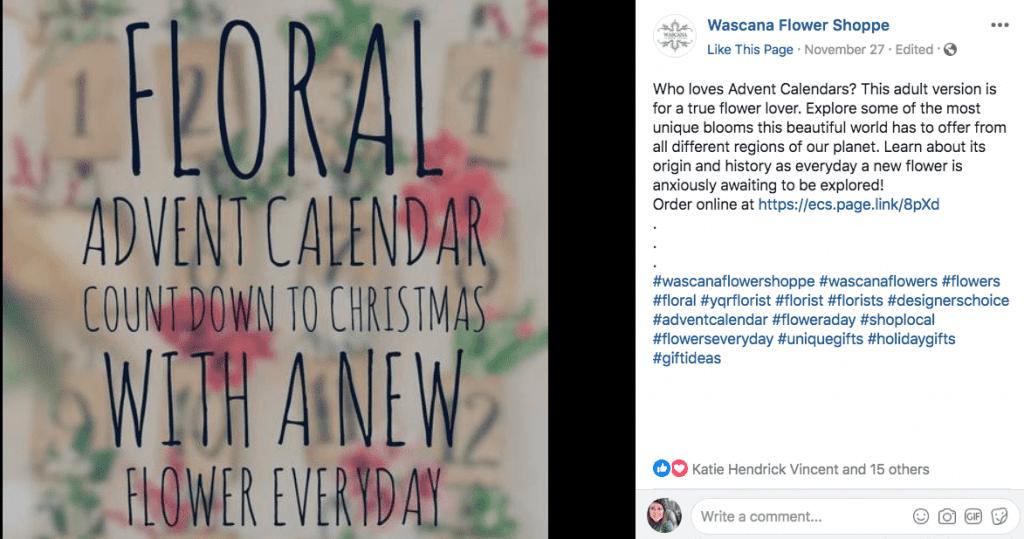 Advent Calendar Flaunts Shop's Vast Offerings