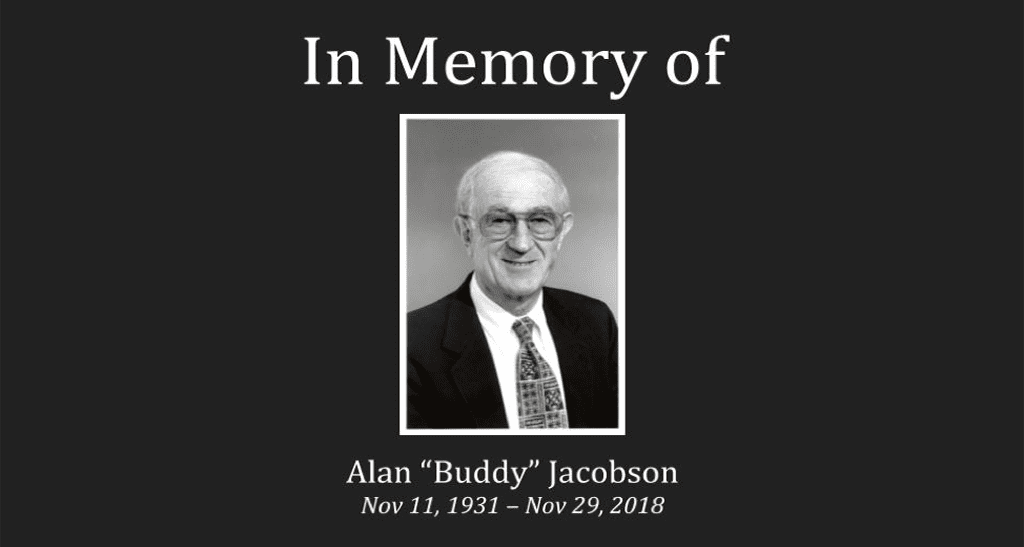 "Alan ""Buddy"" Jacobson: 1931 –2018"