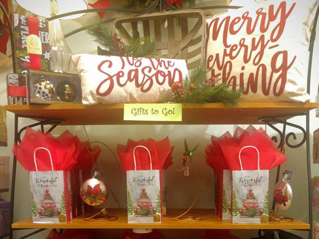 "Creating vignettes for different customer types or setting up ""gifts to go"" make it easy for people to shop, thus allowing you to clear merchandise."