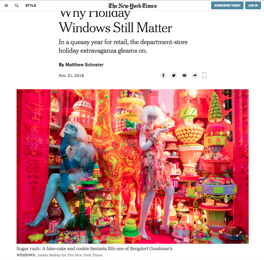 New York Times Touts Importance of Holiday Window Displays