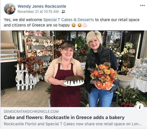 NY Florist Forms 'Sweet' Relationship with Baker