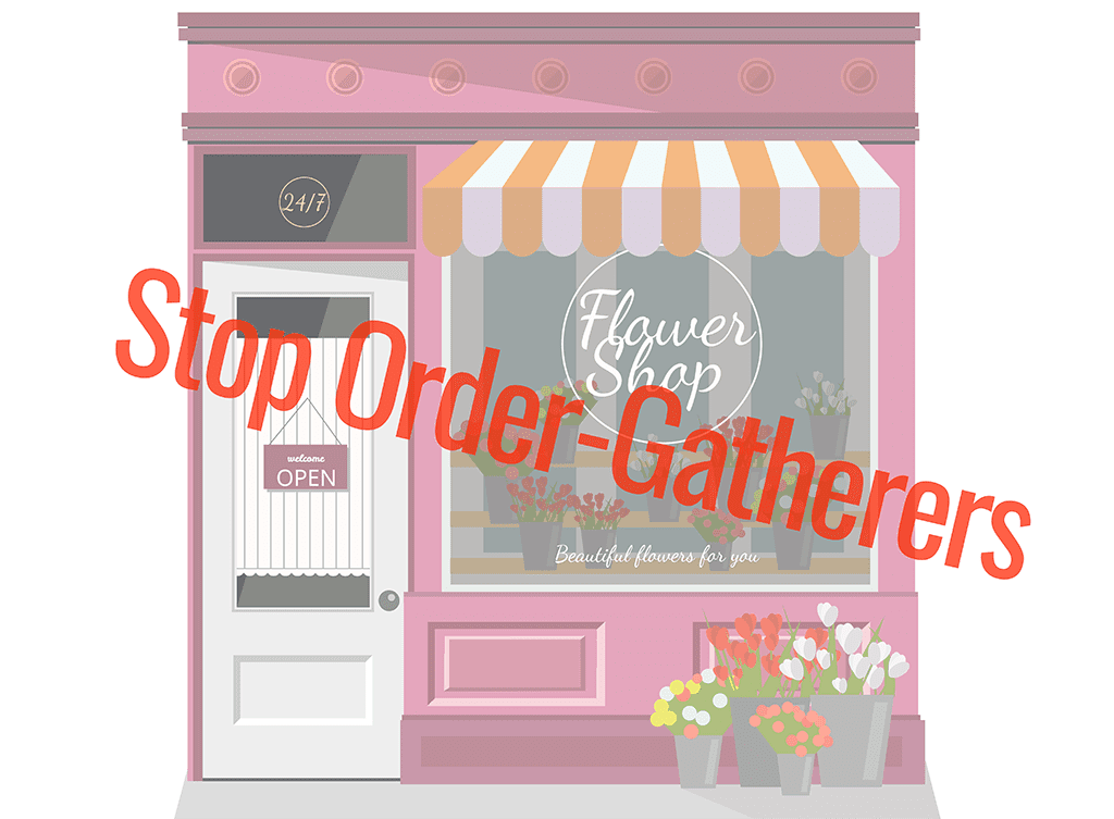 Flower shop.The facade of the store