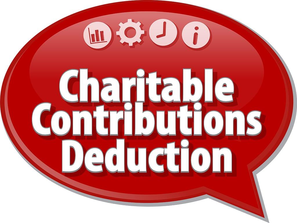 charitable contributions bubble