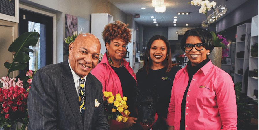 Stacie Lee Banks, AAF, a third-generation co-owner of Lee's Flower and Card Shop in Washington, D.C.,