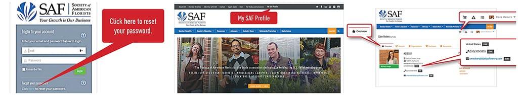 SAF Upgrades Website, Encourages Members to Reset Passwords