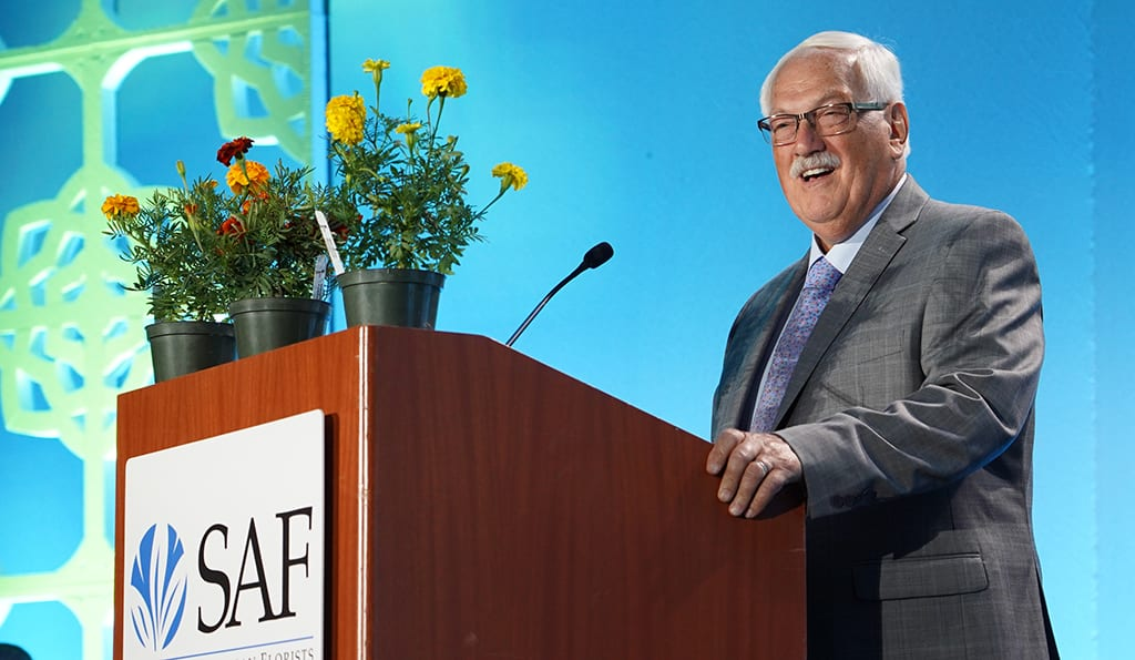 Blair Winner received the SAF Gold Medal Award, honors the originator or introducer of a widely distributed plant or flower that has become established as an outstanding product of significant horticultural and commercial value, during SAF Palm Springs 2018.