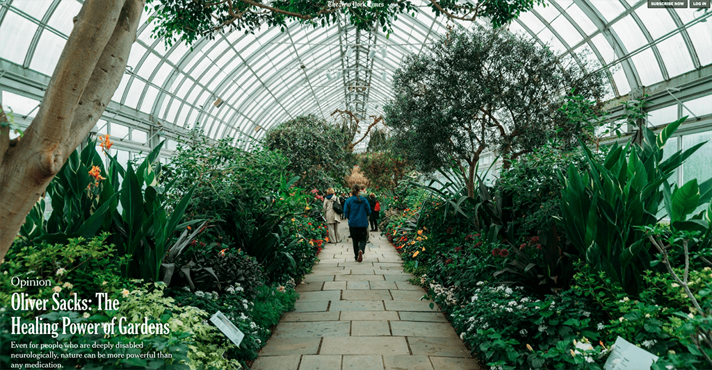 New York Times Op-Ed Calls Gardens 'Essential to the Creative Process'