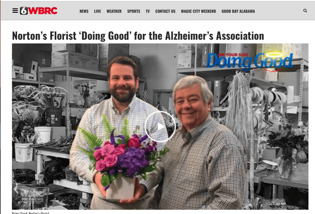 Alabama Florist Partners with Alzheimer's Association for Mother's Day