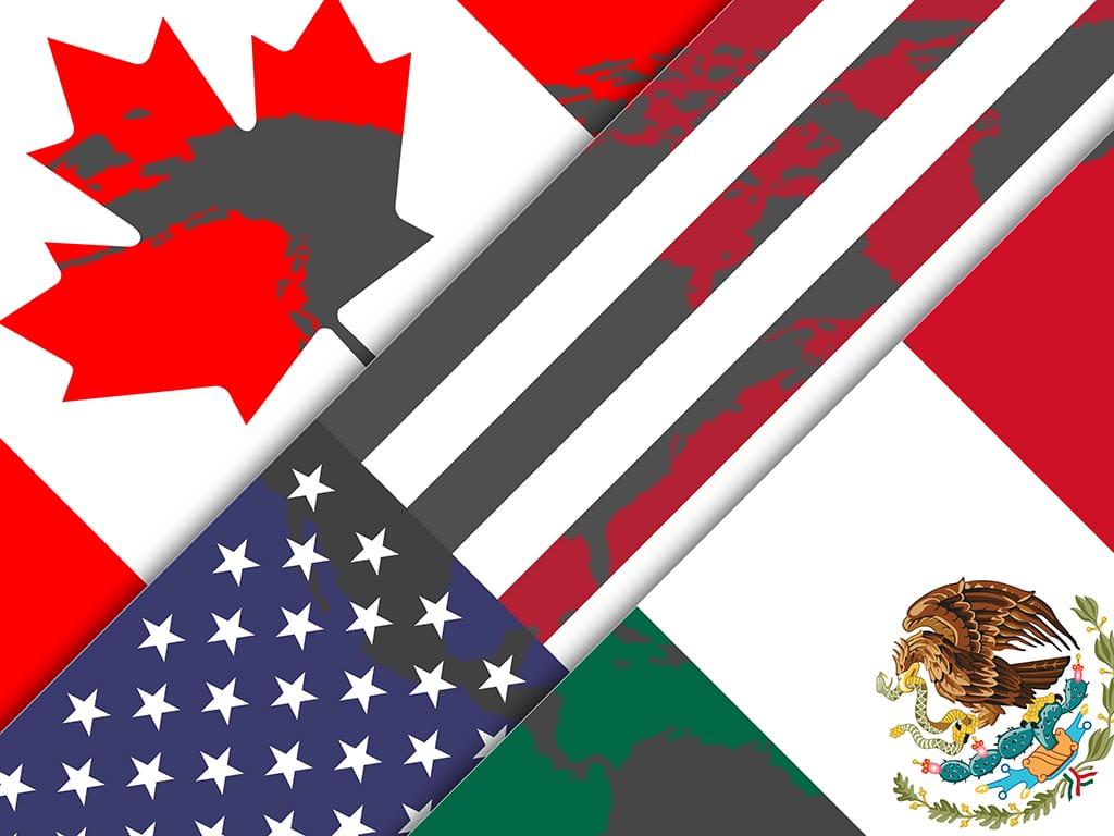 U.S Mexico Canada Combo Flag