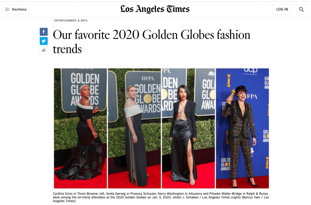Golden Globes Offers Preview of Glam Looks to Come