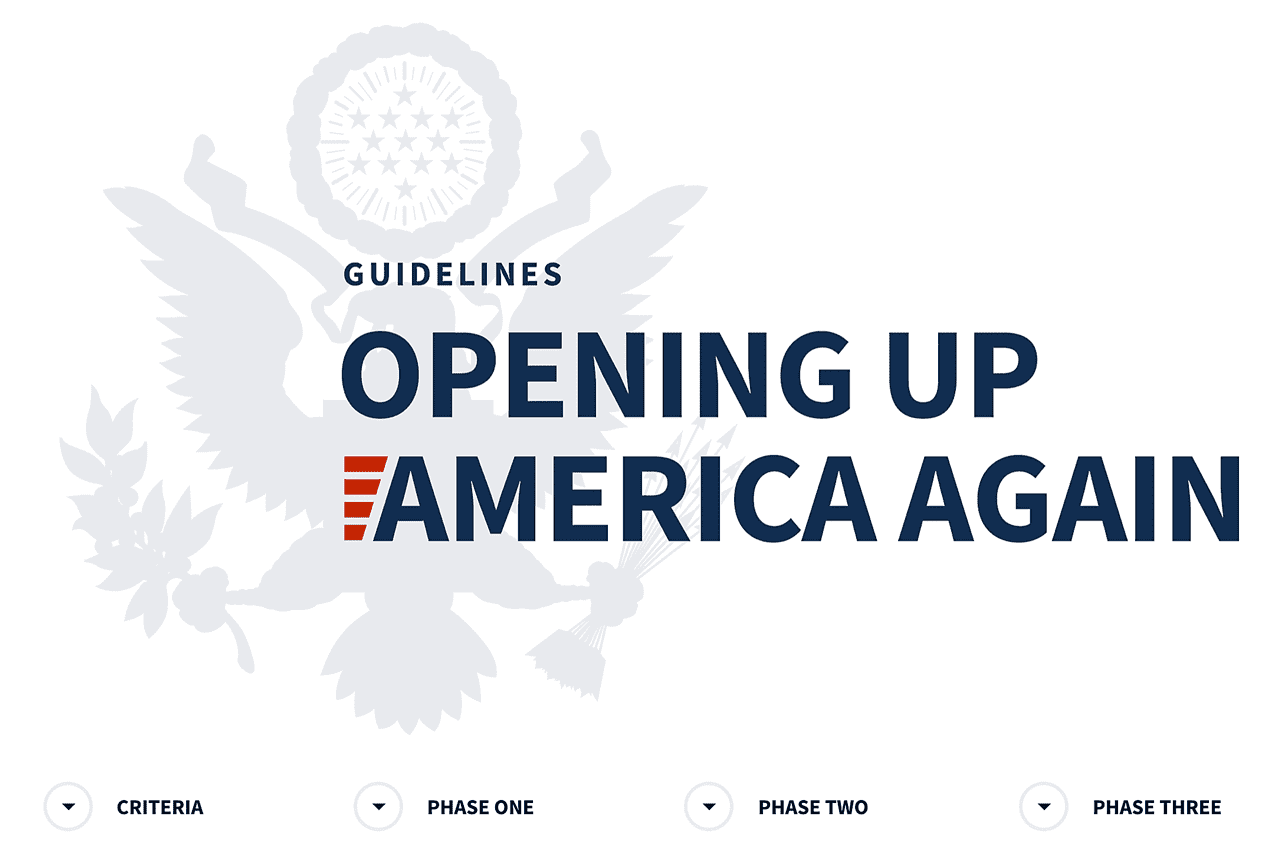 Guidelines - Opening Up America Again